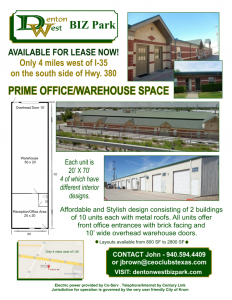 warehouse with office space for rent